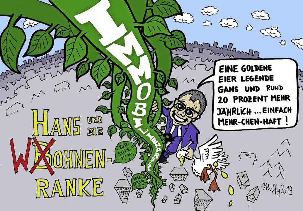 Frei nach dem englischen Märchen Jack ...e beanstalk (Hans und die Bohnenranke)  | Foto: Karikatur: Thomas Muffler