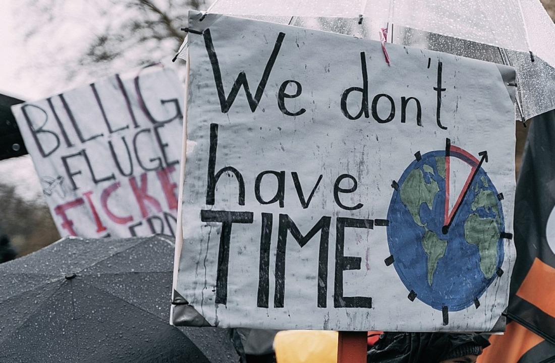 Klimaschutz bewegt Schüler bei Demonst...n in der Fastenzeit, wie in der March.  | Foto: Stefan Hipp