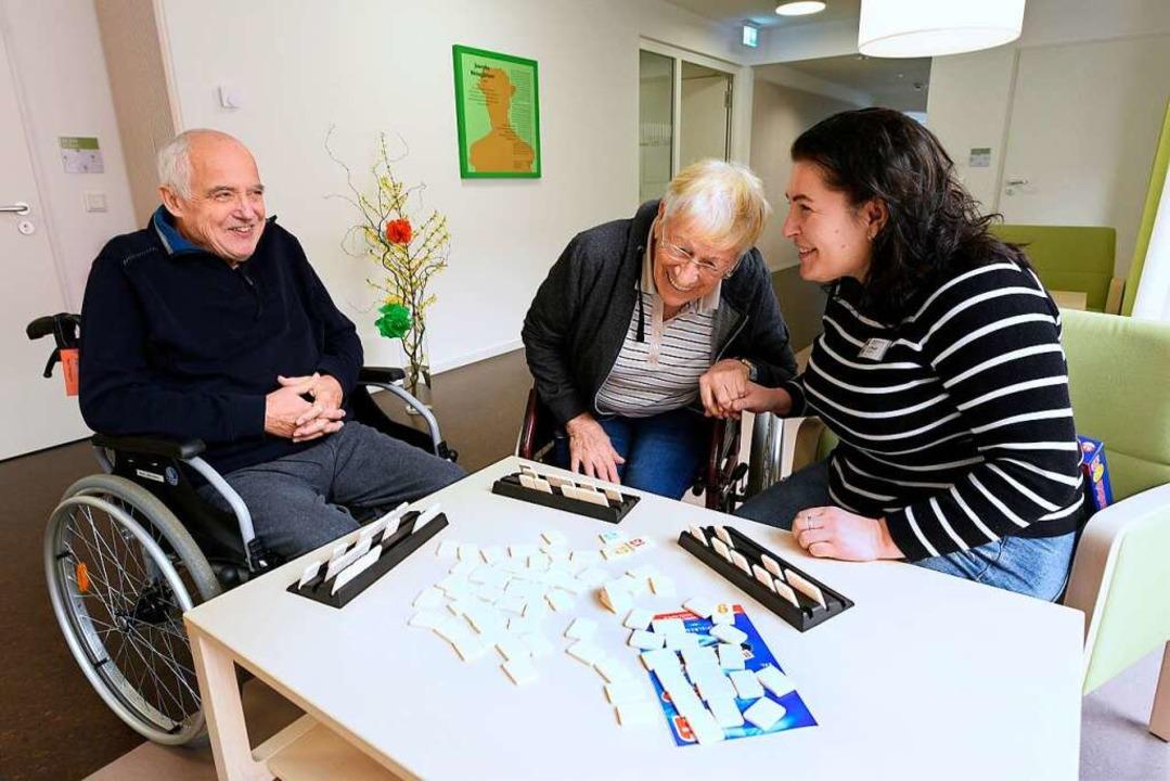Spielenachmittag im Pflegeheim Haus Heiliggeist  | Foto: Thomas Kunz