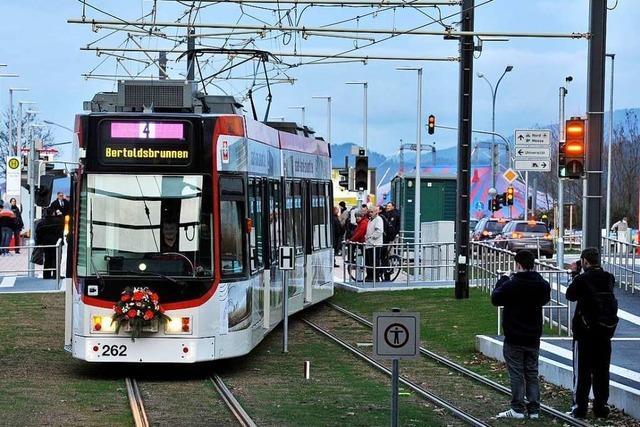 Bauarbeiten für Freiburger Messe-Tram gehen in die letzte Phase