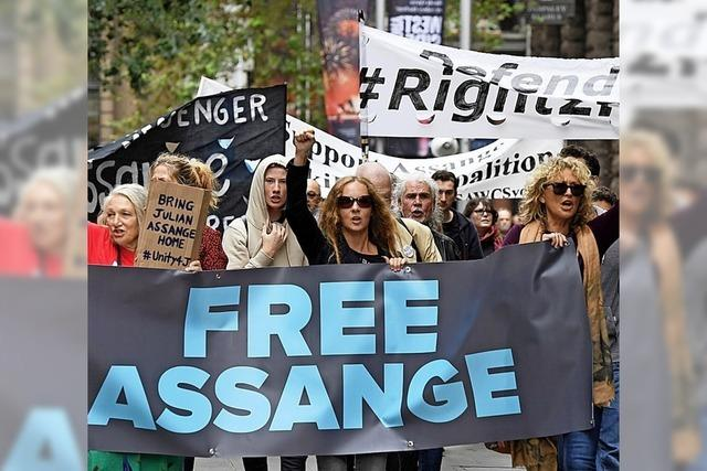Proteste gegen die Verhaftung von Julian Assange