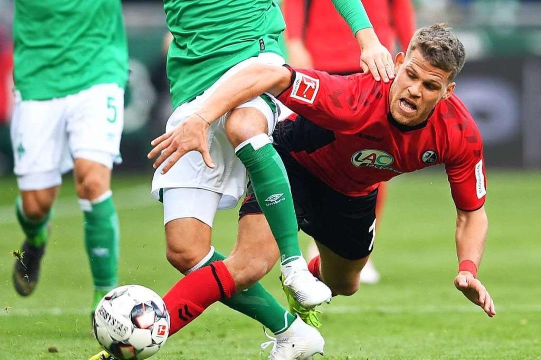 Florian Niederlechner: Insgesamt bleibt er  aber ohne große Wirkung.  | Foto: dpa