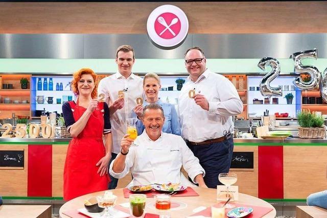 Der Zunftvogt der Freiburger Fasnetrufer mischt die ZDF-Küchenschlacht auf