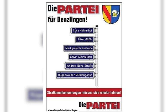 Satire-Partei mit Liste für Kommunalwahl