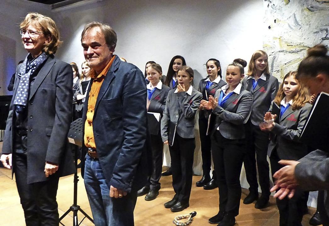 Martina van Lengerich und Ulrich Land ...rger Münsters im Stubenhaus in Staufen  | Foto: Anne Freyer