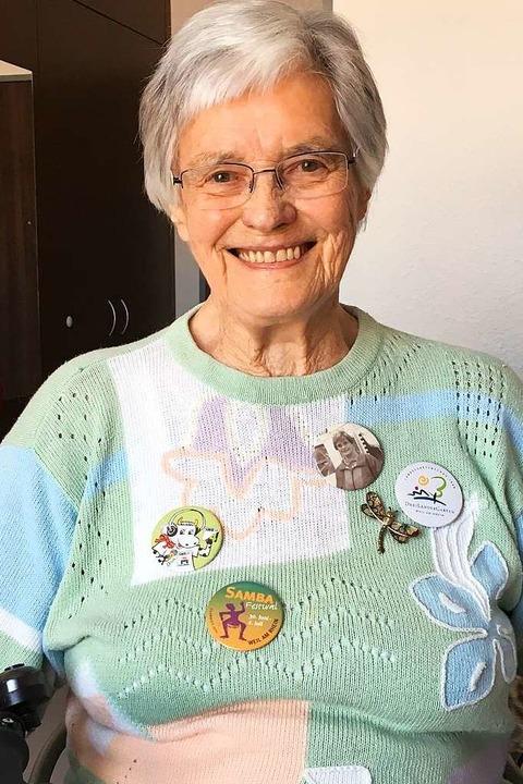 Frieda Strütt (92) war vor 20 Jahren g...utzerin des neuen Naherholungsgebiets.  | Foto: Privat