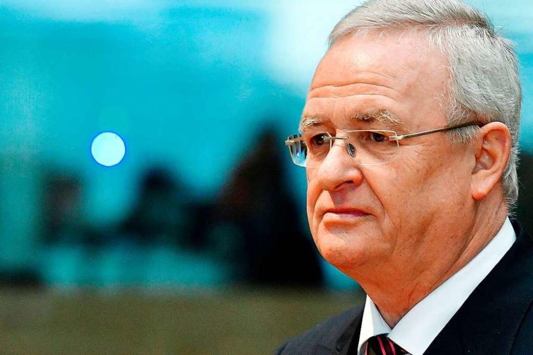 Martin Winterkorn muss wohl auf die Anklagebank.  | Foto: AFP