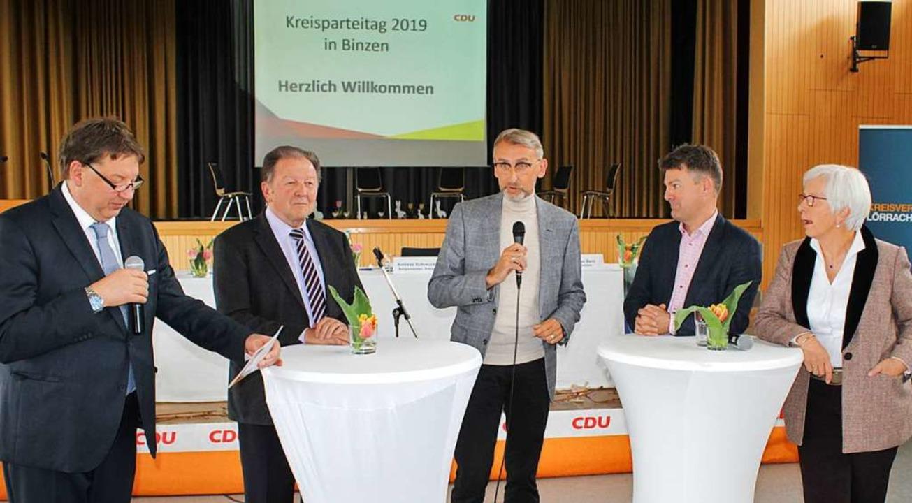 Die Diskussionsrunde beim CDU-Kreisparteitag  | Foto: Rolf Reißmann