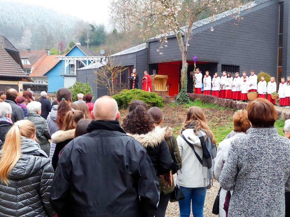 Ein ökumenischer Gottesdienst eröffnete in Oberprechtal den Palmsonntag.  | Foto: Roland Gutjahr