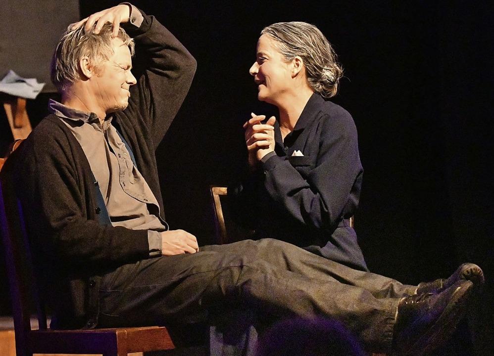Ralf Kuchheuser und Katja Rothbächer s...er verhakte Paar Poppy und Semiramis.   | Foto: Wolfgang Künstle