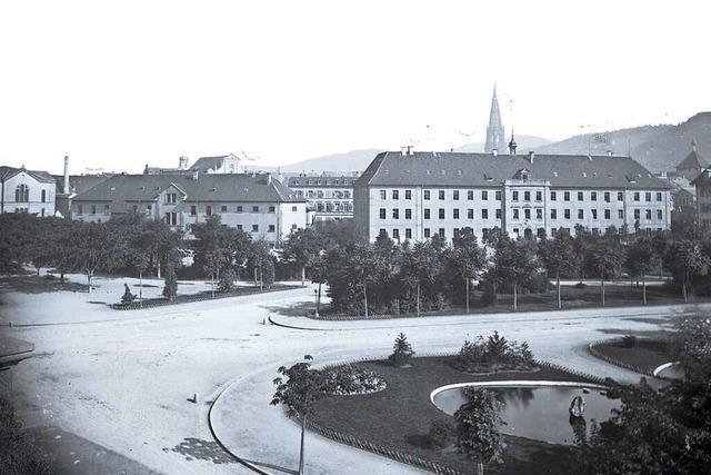 Das Unigelände in der Freiburger Altstadt hat eine bewegte Vergangenheit