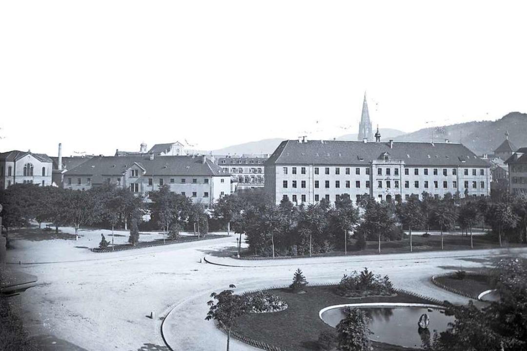 Die beiden Gebäude der Rempartkaserne ...mpartstraße. Ganz links die Synagoge.   | Foto: Sammlung Scheck