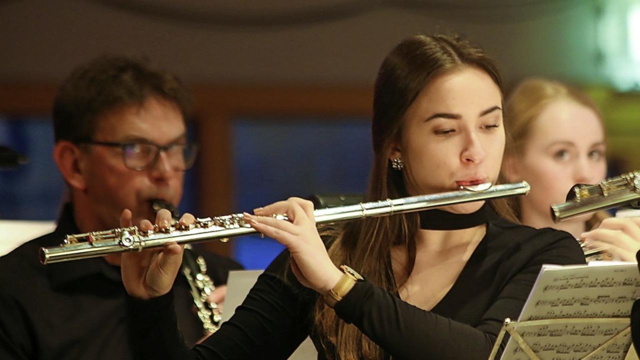 Die Musikerinnen und Musiker aus Grafenhausen in Aktion   | Foto: Sandra decoux-cone