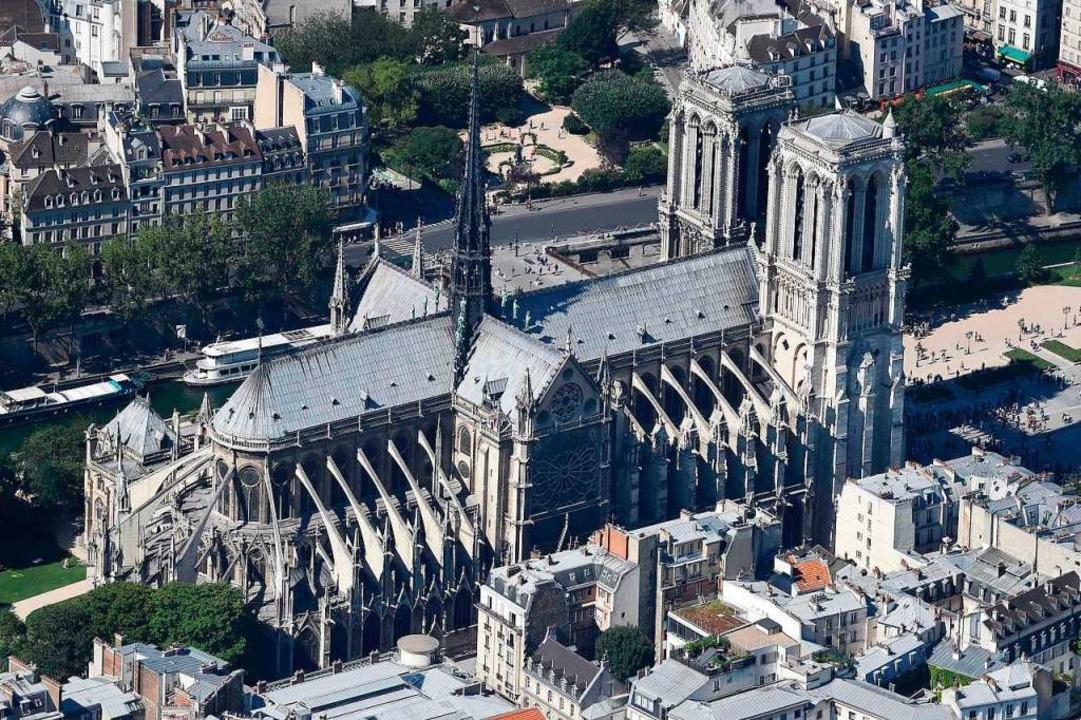 Notre Dame vor dem Brand  | Foto: AFP