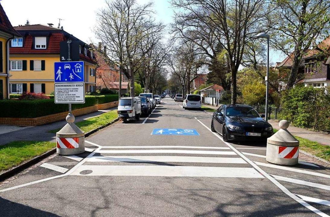 Der östliche Teil der Ekkebertstraße i...e Regeln jedoch noch nicht konsequent.    Foto: Thomas Kunz