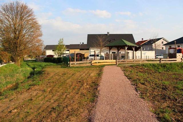Im Bötzinger Wohngebiet Nachtwaid muss Verbindung um Spielplatz herumgeführt werden