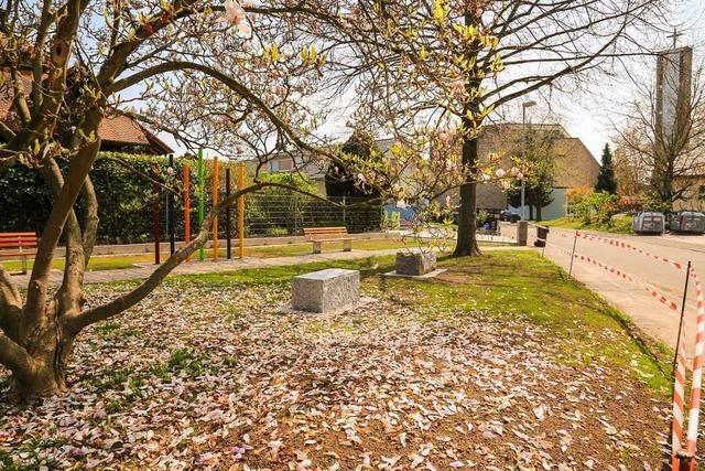 Die Grünanlage im Bachgarten ist neu gestaltet worden