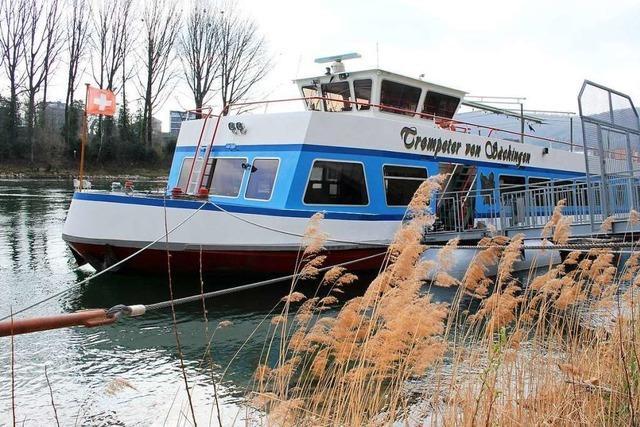Das Trompeterschiff legt seit 40 Jahren am Bad Säckinger Rheinufer ab
