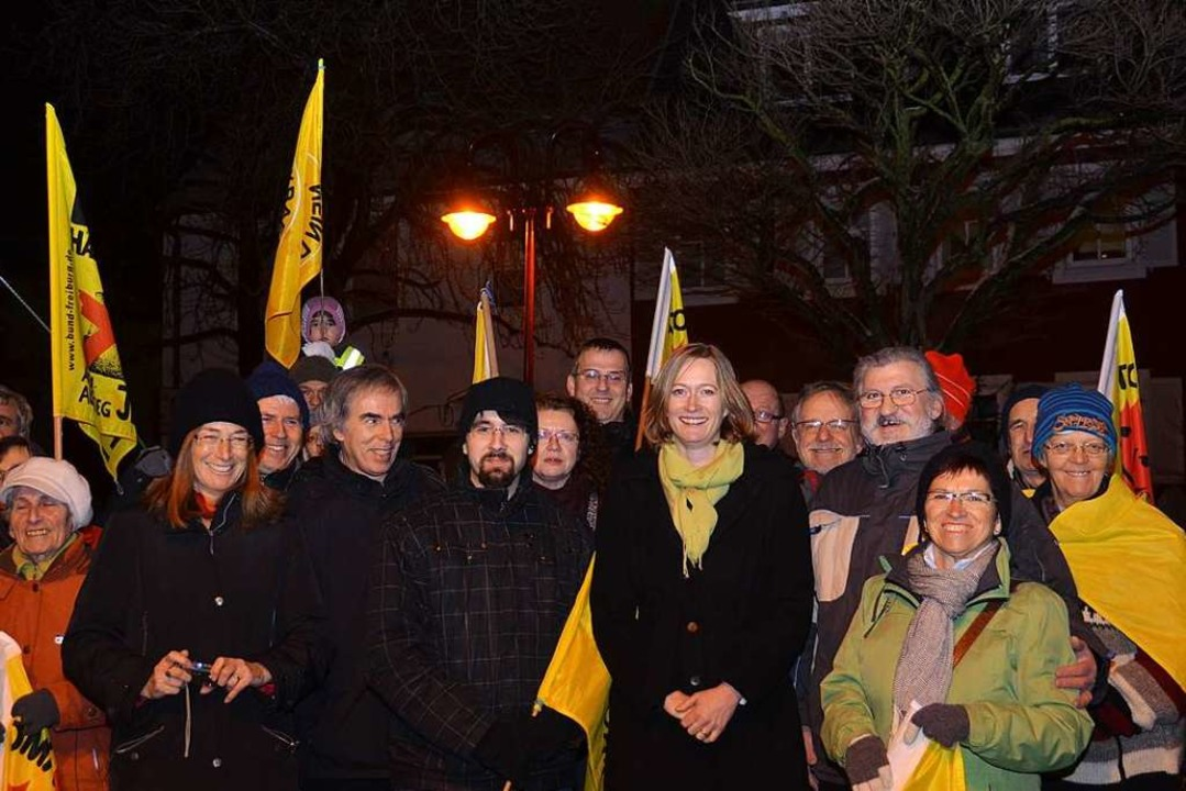 Im Januar 2013 war die Bundestagsabgeo...che am Breisacher Neutorplatz zu Gast.  | Foto: Claudia Müller