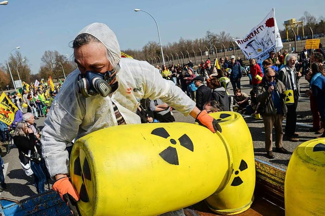 Auch auf französischer Seite gibt es D...n das Kraftwerk (Archivbild von 2017).  | Foto: AFP
