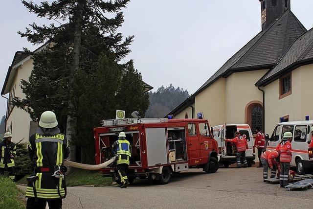 Komplexe Rettungsaktion am Wirtshaus
