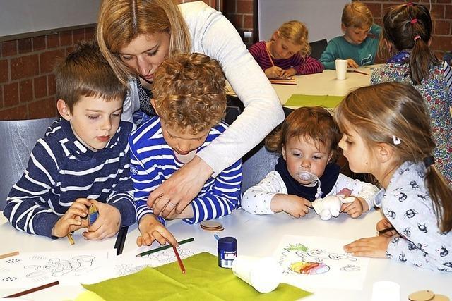 Kreative Kinder mögen's bunt