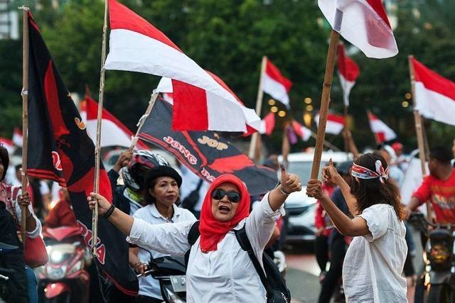 Wahl in Indonesien: Regierungspartei liegt laut ersten Prognosen vorne
