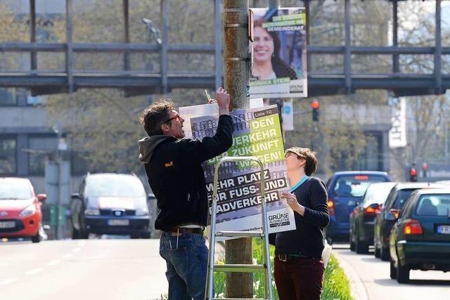 Plakate zur Kommunalwahl: Höhepunkt der Materialschlacht noch nicht erreicht