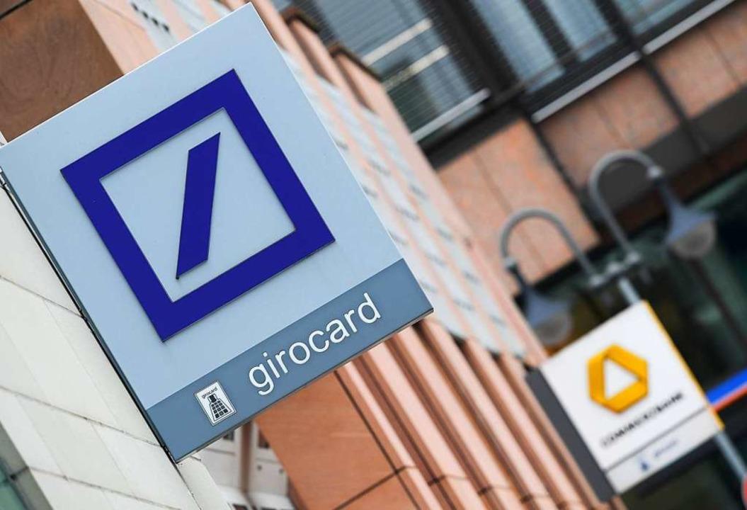 Finanzminister Scholz sieht Vorteile i...s von Deutscher Bank und Commerzbank.     Foto: DPA