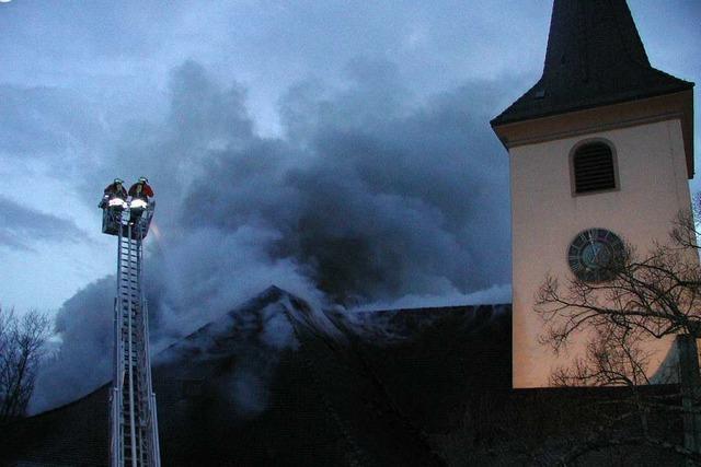 Am Palmsonntag 2002 brannte die Kirche St. Alban in Bad Krozingen