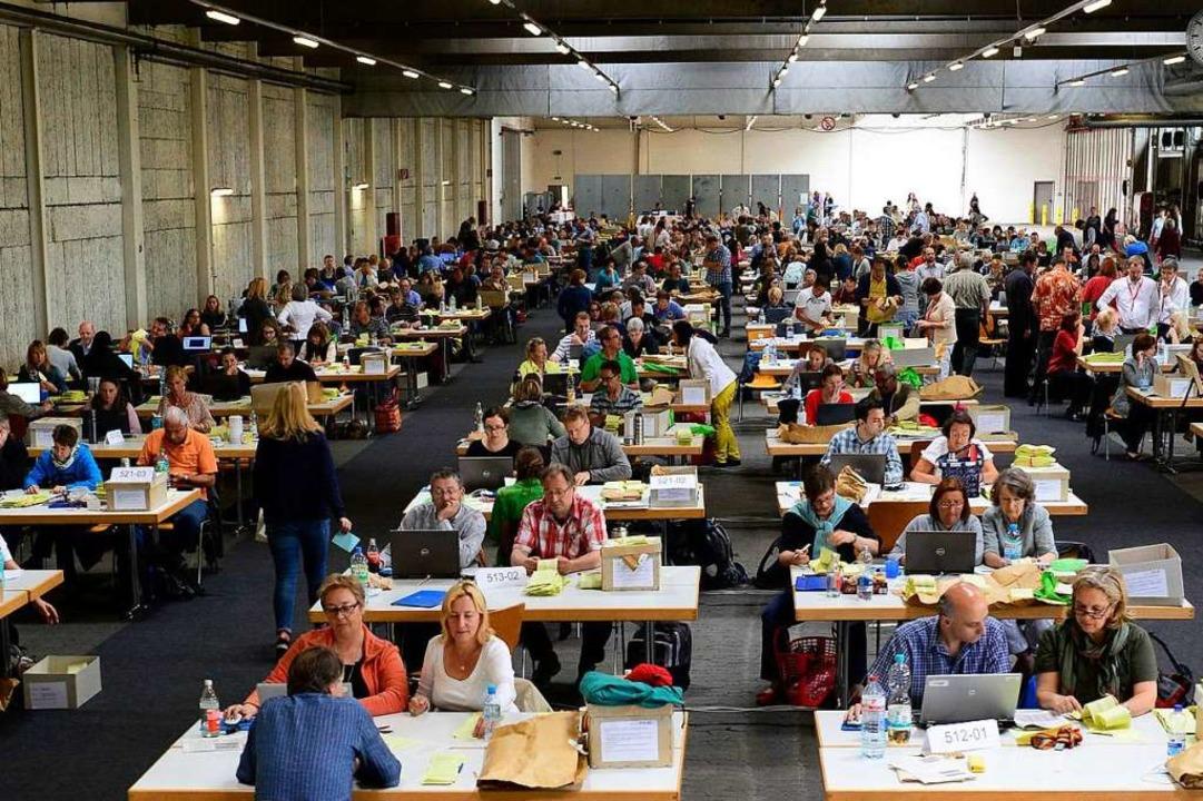 Bald zählen sie wieder: Unser Bild ent...er Halle der Freiburger Verkehrs-AG.      Foto: Ingo Schneider