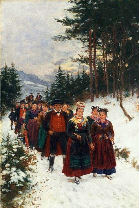 Wilhelm Hasemann: Brautzug im Winter (1905)  | Foto: Hans-Peter Vieser