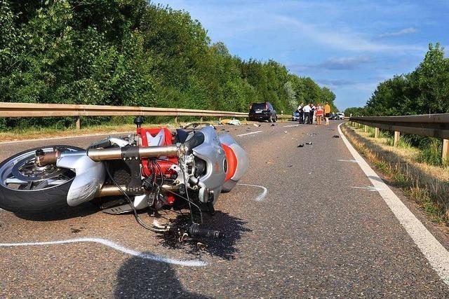 Acht Motorrad-Unfälle in Südbaden am Karfreitag
