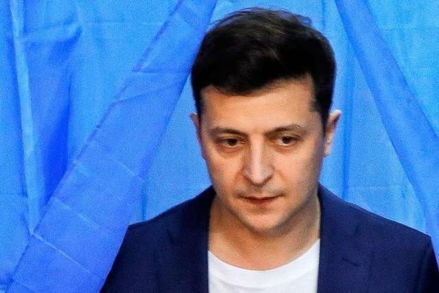 Komiker Selenskyj nach Prognosen neuer Präsident