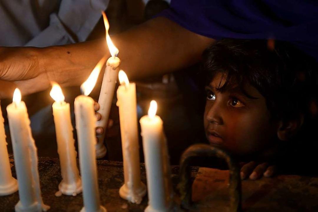 Sri Lanka trauert: Bei Anschlägen in S...m Ostersonntag 290 Menschen ums Leben.  | Foto: AFP
