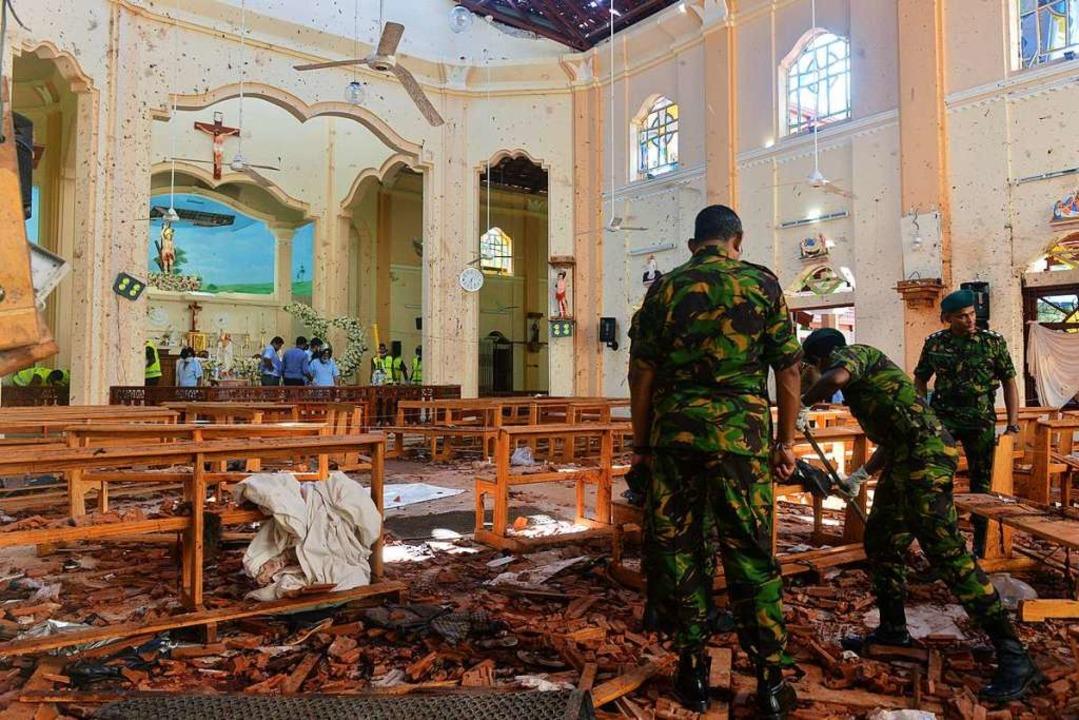 Bilder, die das Ausmaß der Zerstörung zeigen.  | Foto: AFP