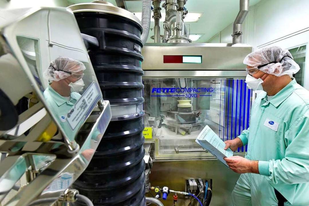 Bei der Tablettenherstellung ist Präzision gefragt.  | Foto: Thomas Kunz