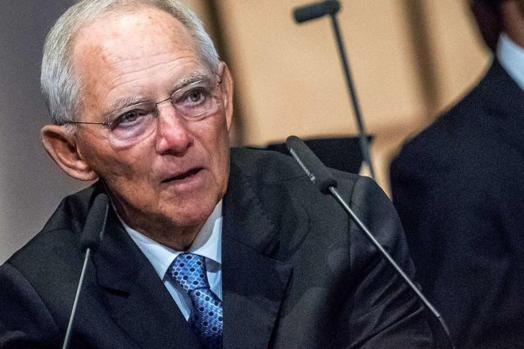 Bundestagspräsident Wolfgang Schäuble  | Foto: dpa