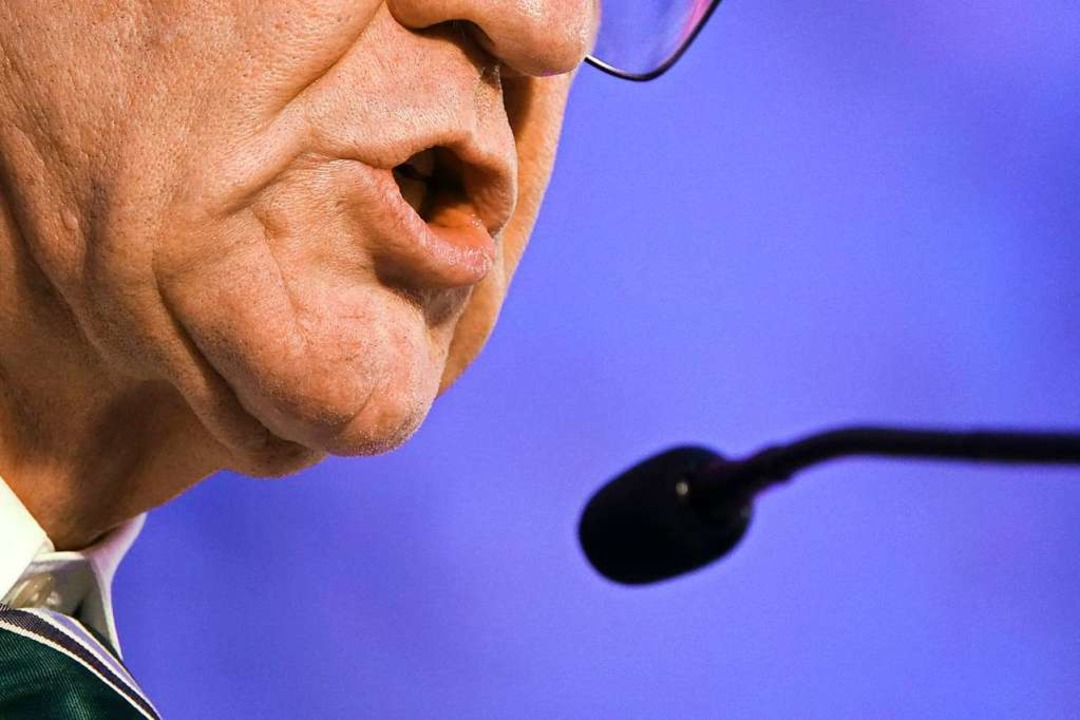 Einer der bekanntesten Dialektsprecher: Winfried Kretschmann.  | Foto: dpa