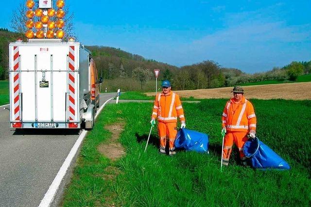 Mehr als 20 Tonnen Müll landen im Kreis Lörrach jährlich im Straßengraben