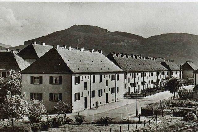 Als in den 50er-Jahren in Freiburg-Haslach Wohnraum gebaut wurde