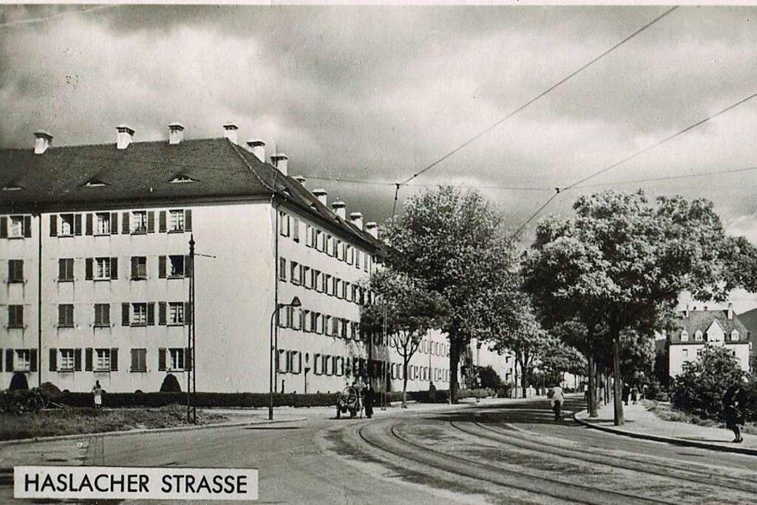 Die Haslacher Straße 1955  | Foto: Archiv Hans-Jürgen Oehler