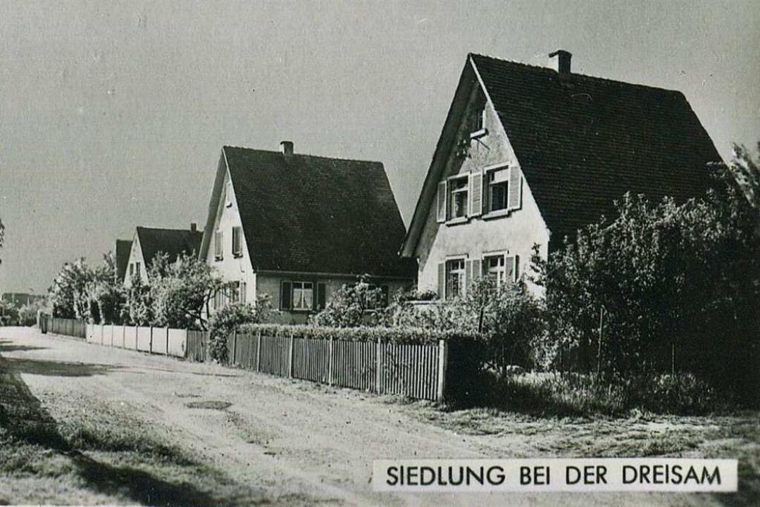 Die Siedlung bei der Dreisam 1955.  | Foto: Archiv Hans-Jürgen Oehler