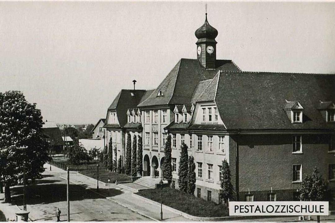 Die Pestalozzi-Schule 1955.  | Foto: Archiv Hans-Jürgen Oehler
