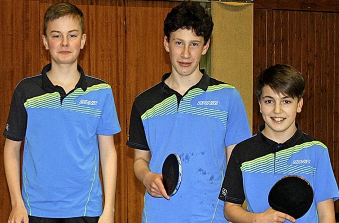 <BZ-FotoAnlauf>Tischtennis:</BZ-FotoAn..., Mathis Wißner und Liam Lepoittevin.   | Foto: Privat
