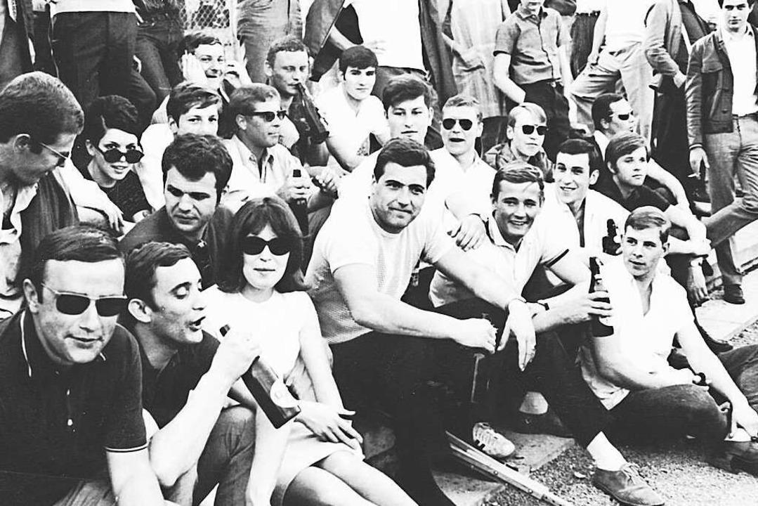 Jim Cameron  (Mitte) Ende der 1960er-Jahre in Lahr  | Foto: Jim cameron
