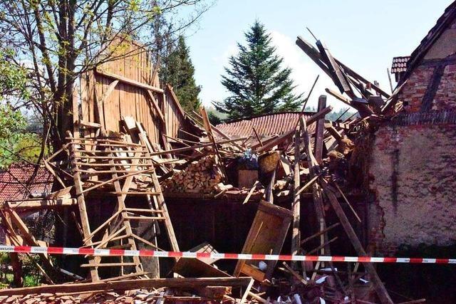 Scheune in Windenreute eingestürzt