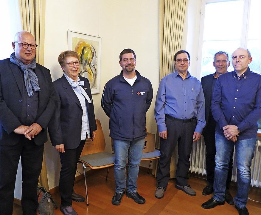 Die vier im Schliengener Gemeinderat g...e Bereitschaftsleiter Philipp Reiter.     Foto: Michael Behrendt