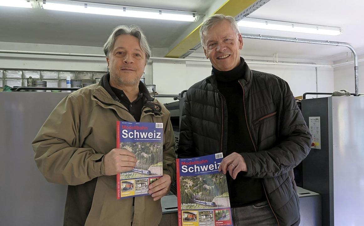 Was akribisches Arbeiten bei der Produ...rrmann und Fachredakteur Manfred Merz.  | Foto: Gunter Faigle