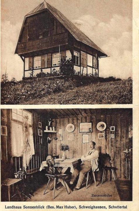 Das Landhaus Sonnenblick von Max Huber auf dem Herrenbuckel (1917)  | Foto: Manfred Eble